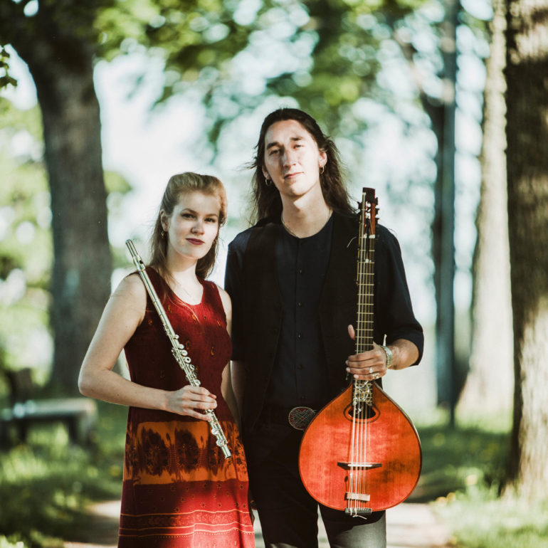 Reval Folk in candle light: Säde Tatar (EST) and Gabbi Dluzewski (SWE), 1st of December 2018 at 7pm